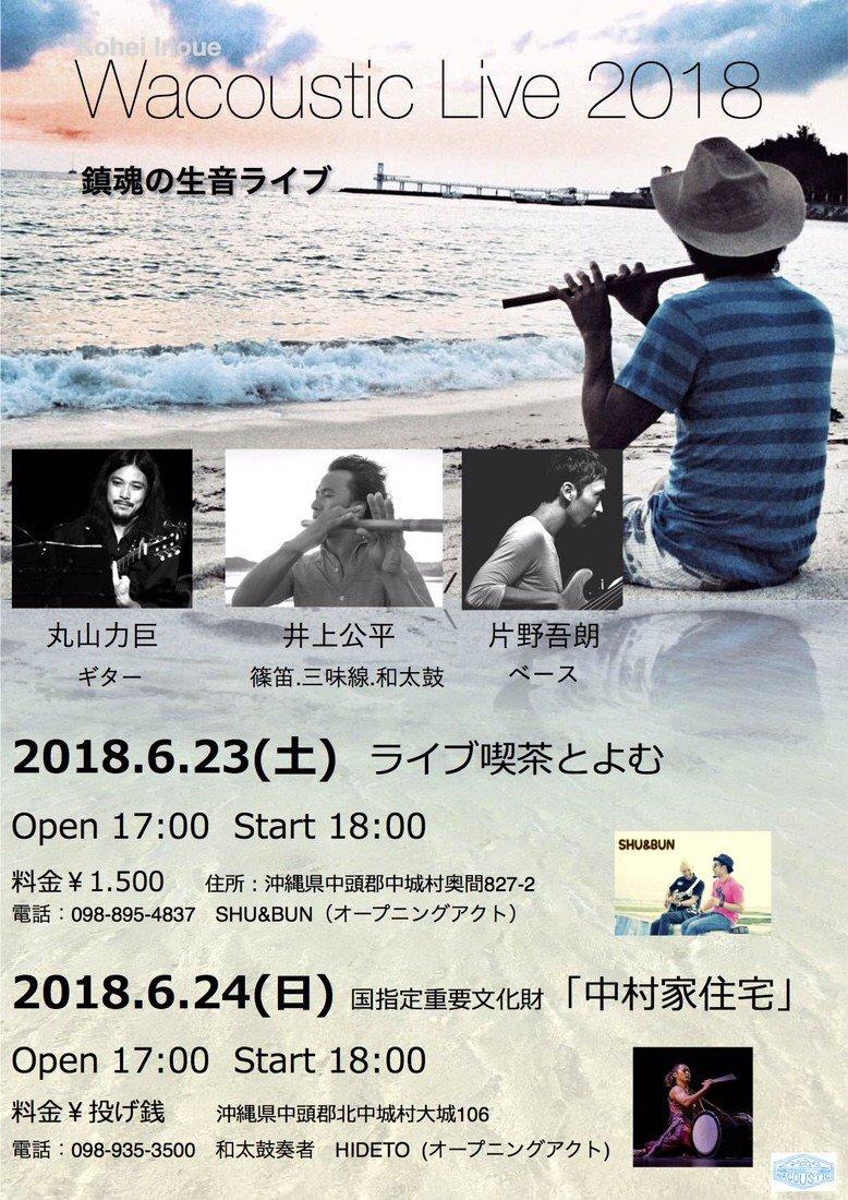 井上公平 Wacoustic Live 2018