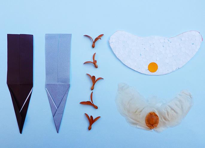 飛ぶタネの模型作り