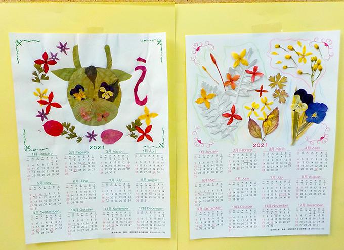 押し花、押し葉でカレンダー作り&植物観察ツアー